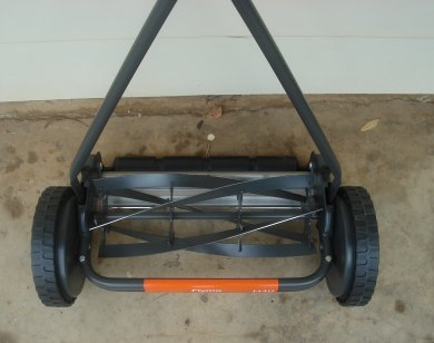 reel mower closup
