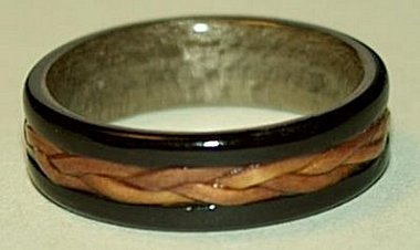 ring crafted from wood